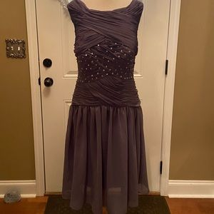 Gray After 5 Dress Size 16 With Built-in-Bra